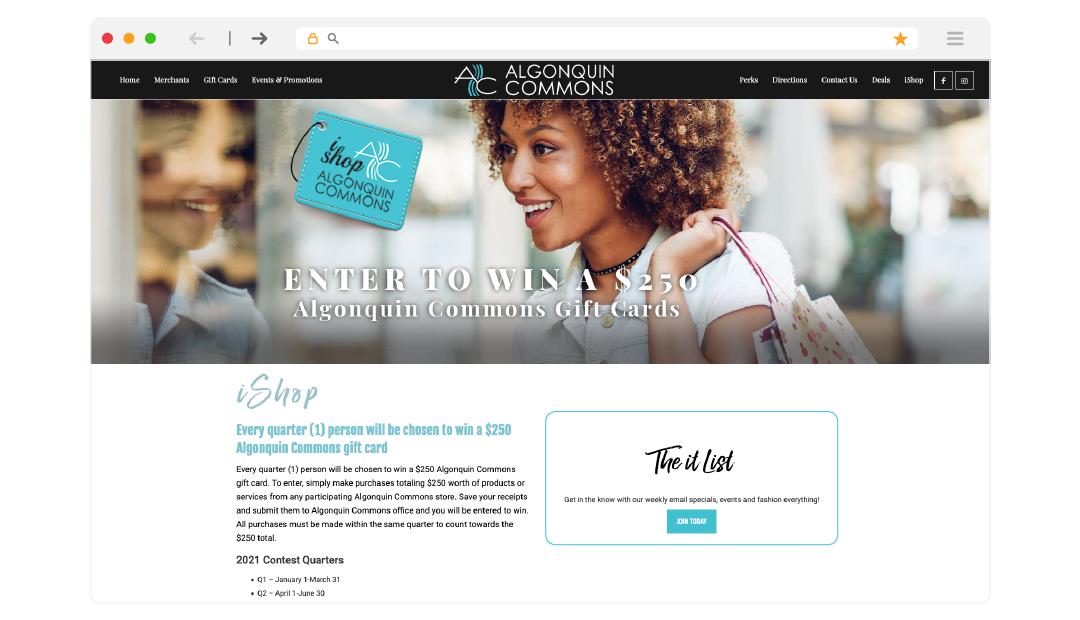 AC iShop Page