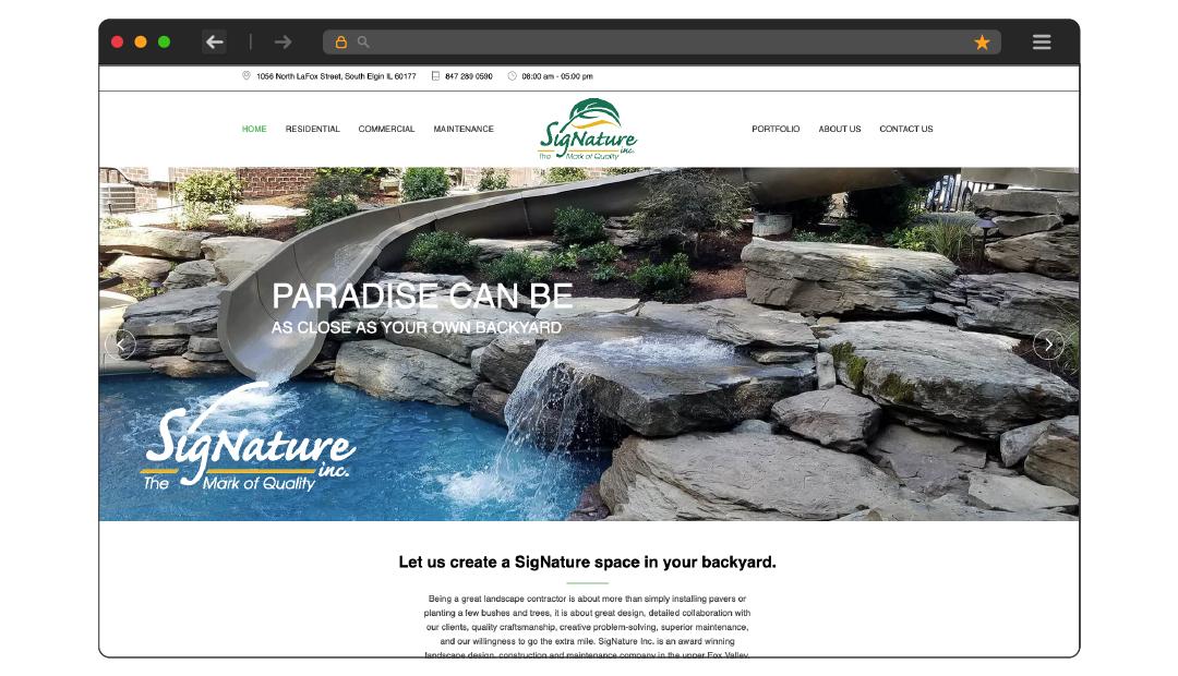 SigNature Landscaping Website