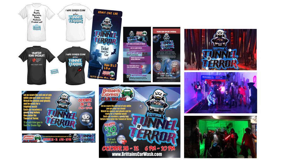 Tunnel of Terror Print Ads