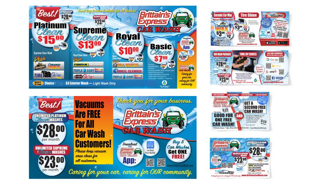 Brittain's Car Wash Graphic Design