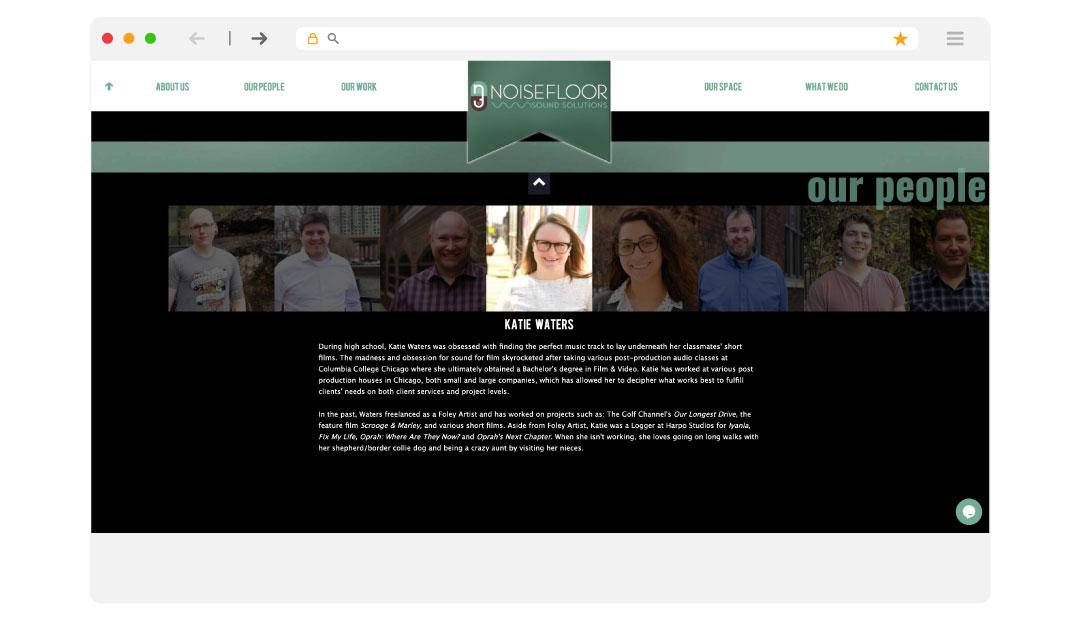 Noise Floor Website Design